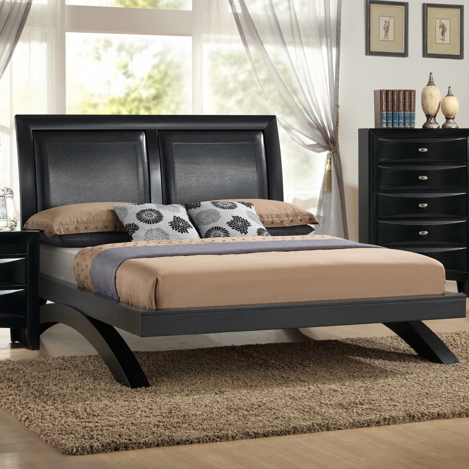 Best Roundhill Furniture Blemerey 6 Piece Platform Bedroom Set With Pictures