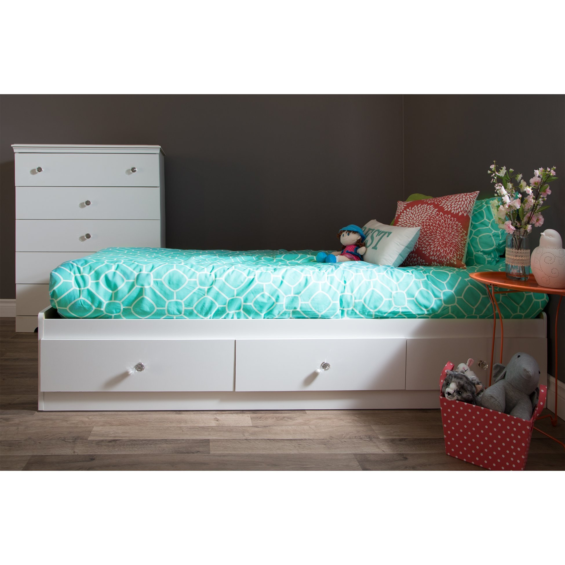 Best South Shore Crystal Twin Mate S Bed With Storage Reviews With Pictures