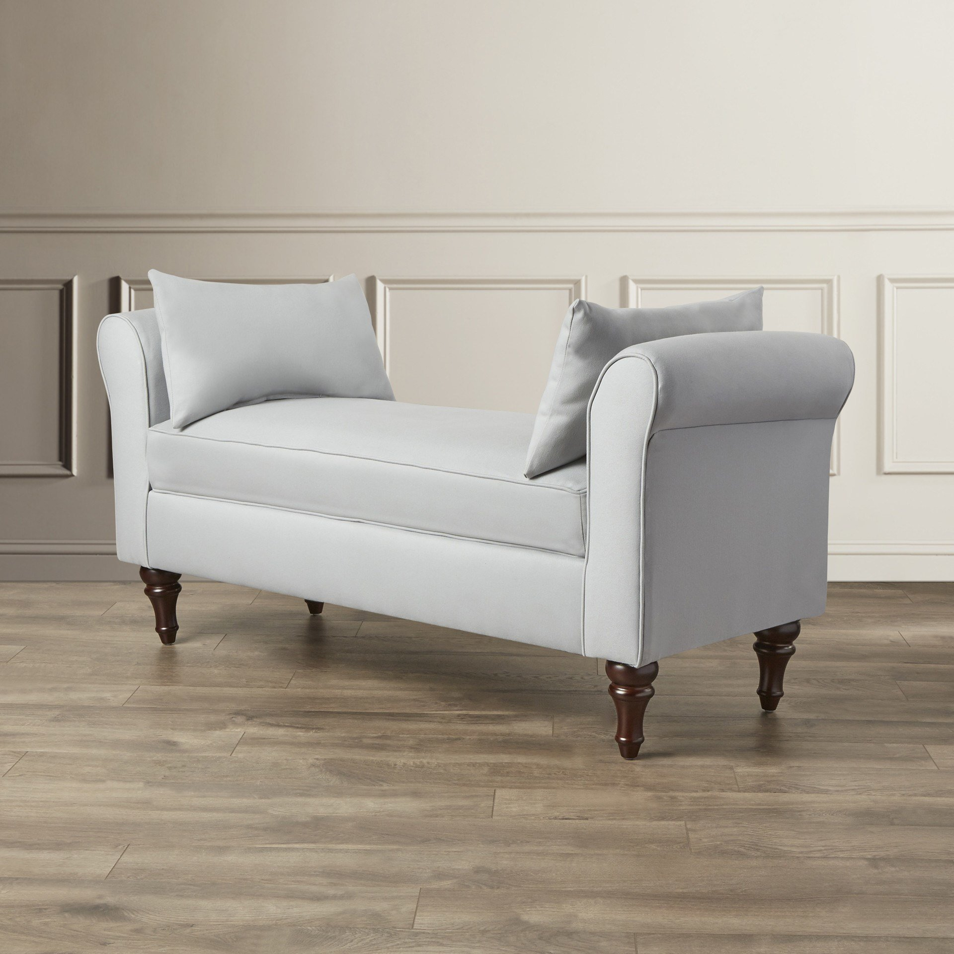 Best Darby Home Co Adelina Roll Arm Bedroom Bench Reviews With Pictures