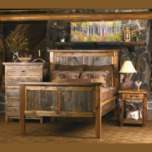 Best Wasatch Reclaimed Barnwood Bedroom Set With Pictures