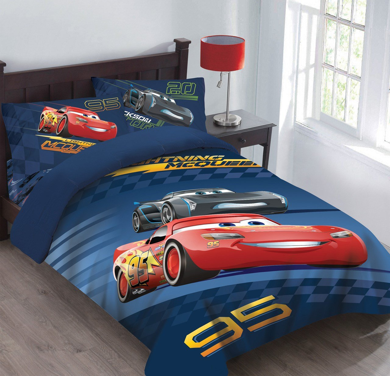 Best Disney Cars Velocity Bedding Comforter Set With Fitted Sheet With Pictures