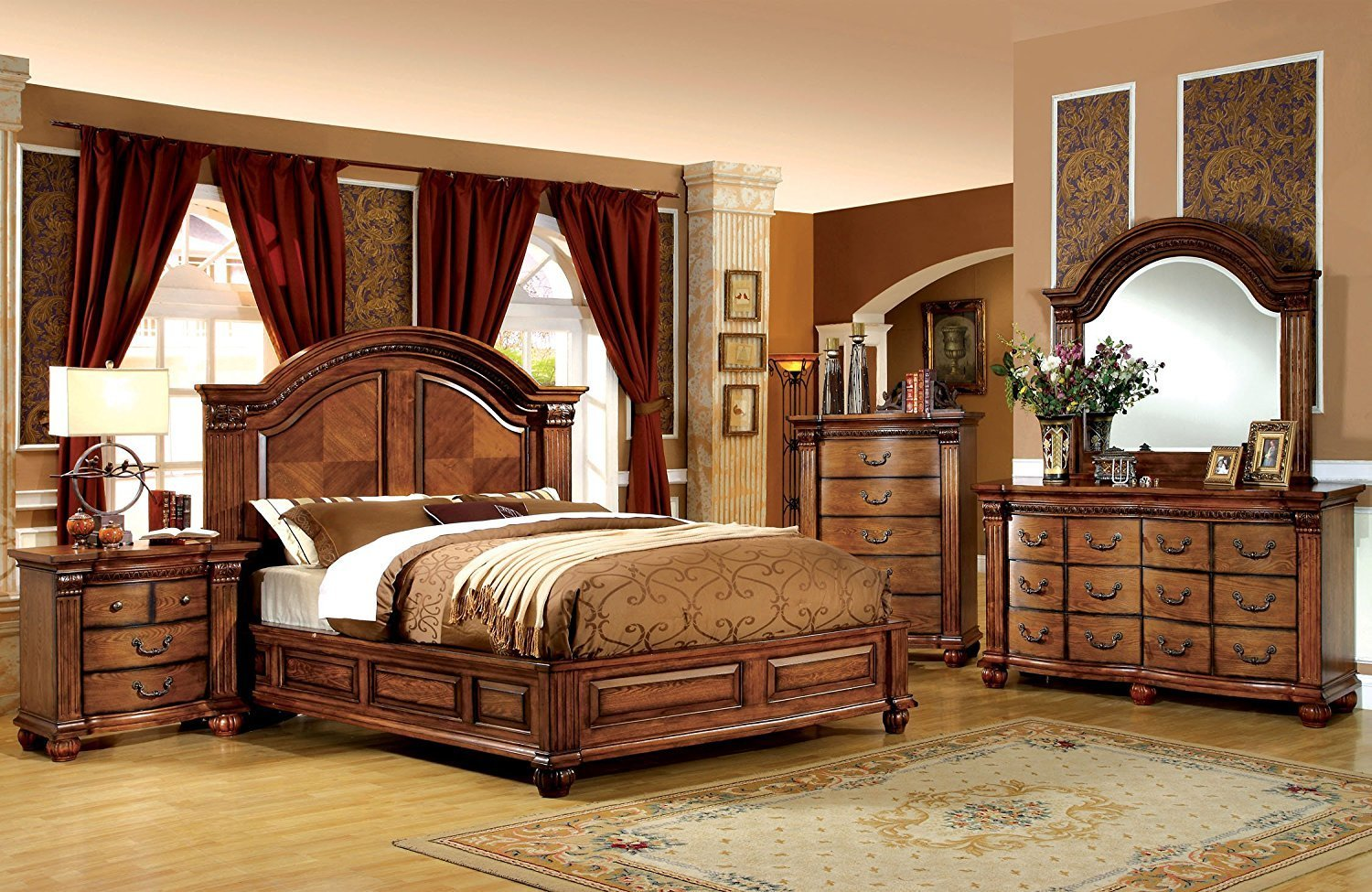 Best Oak Bedroom Sets King Bed Sizes Shop Factory Direct With Pictures