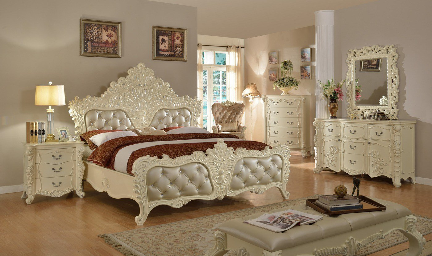 Best Novara French Ornate 5 Drawer Chest In Pearl White With Pictures