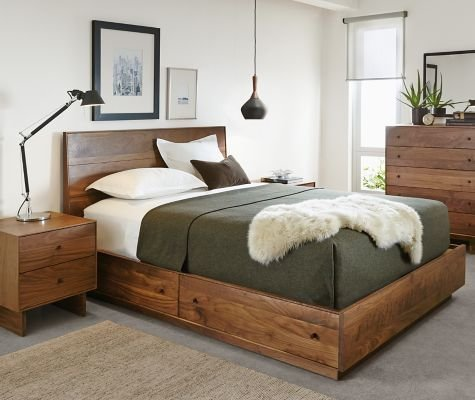 Best Hudson Storage Collection In Walnut Modern Bedroom With Pictures