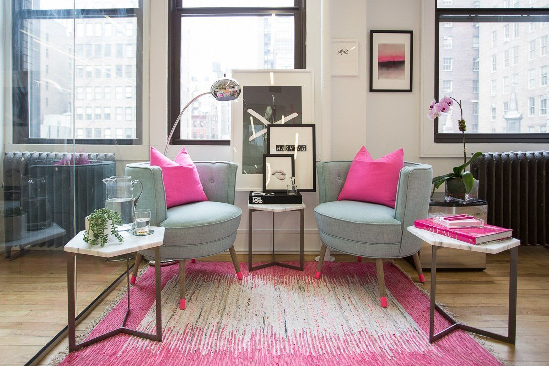 Best Pink Bedroom Makeover Pink Office Alexandra Chong Lulu With Pictures