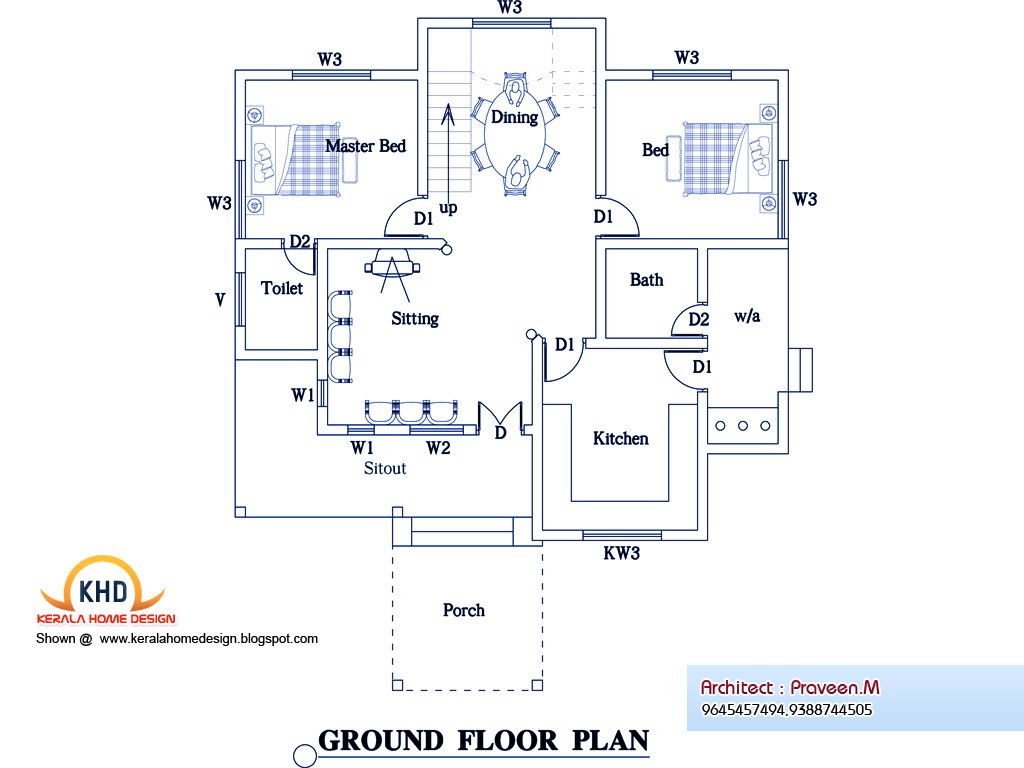 Best 3 Bedroom Home Plan And Elevation Kerala Home Design And With Pictures