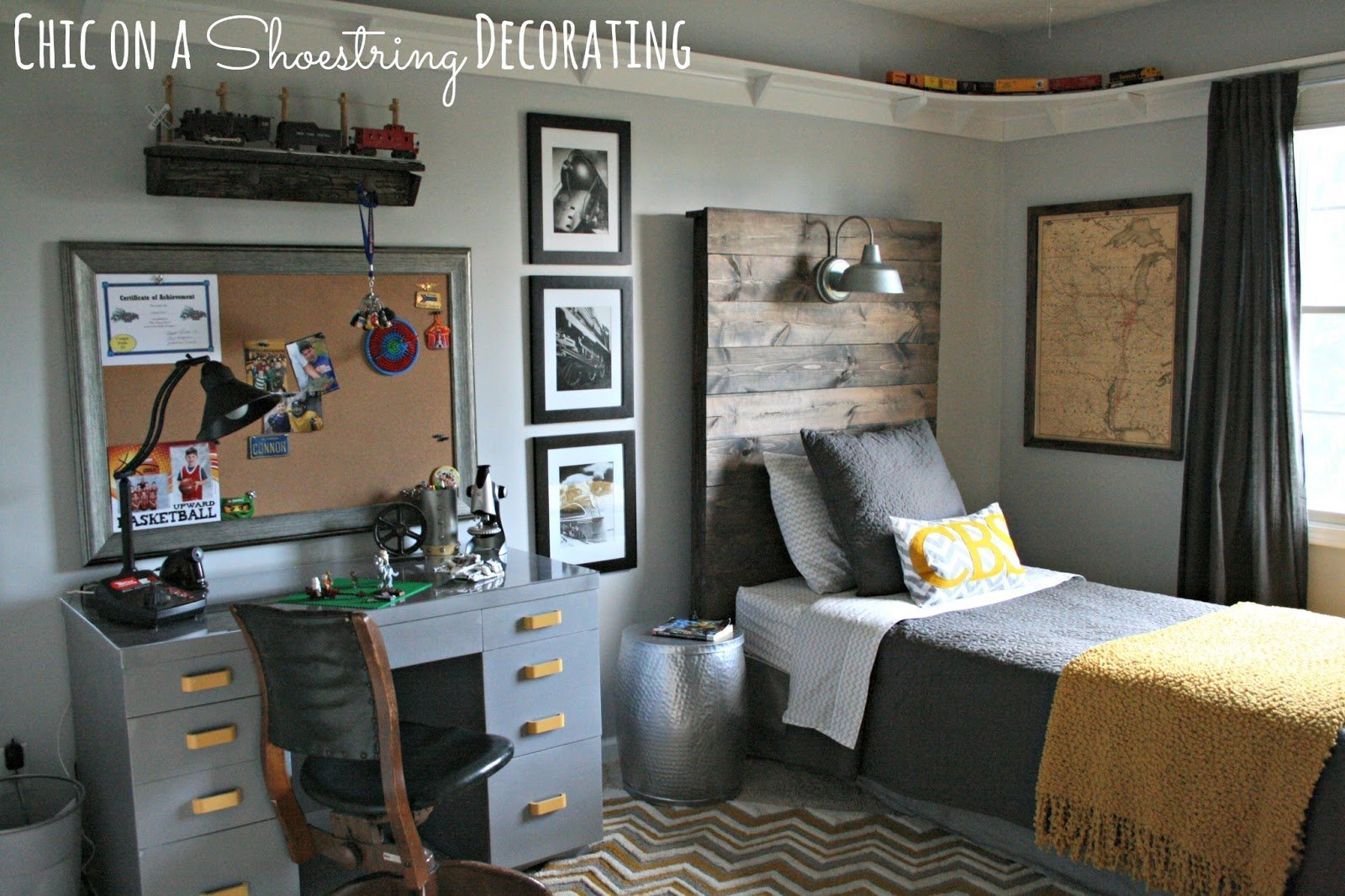 Best Chic On A Shoestring Decorating Bigger Boy Room Reveal With Pictures