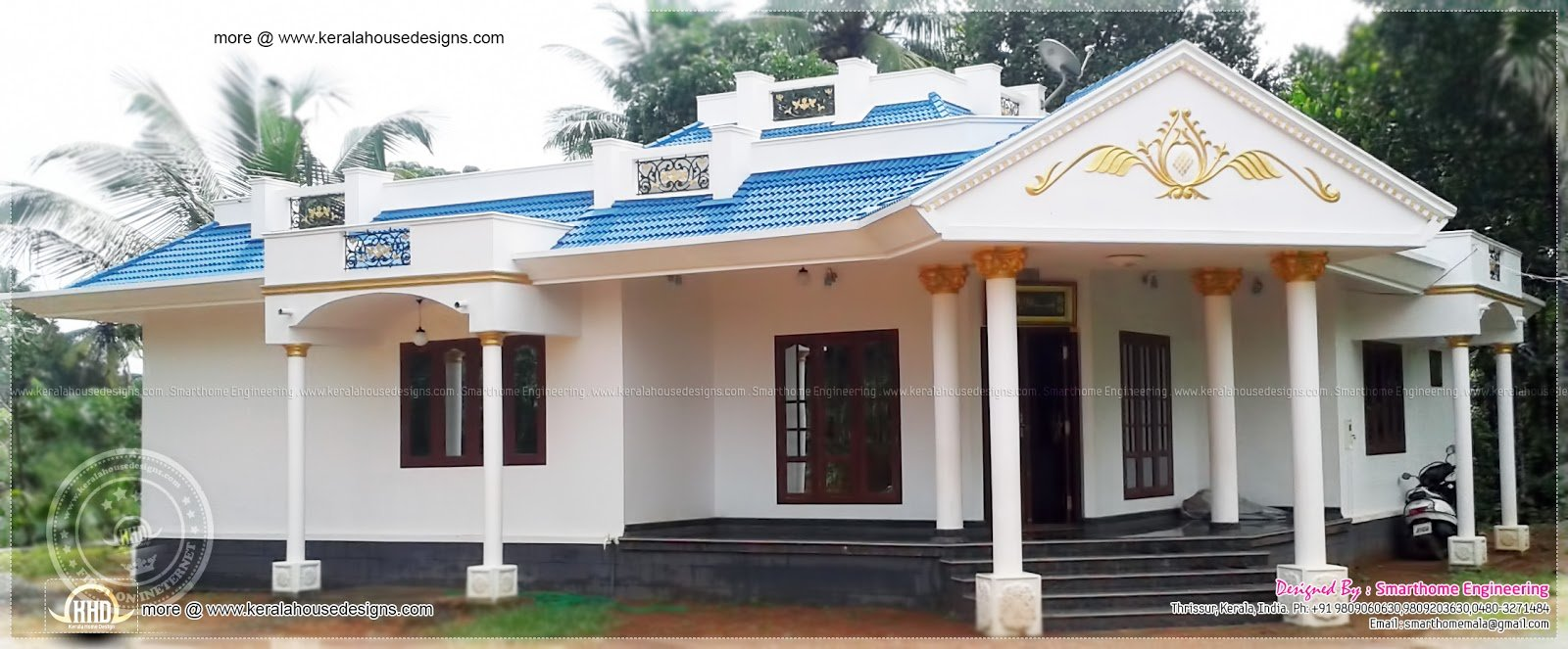 Best 1680 Sq Ft 3 Bedroom Single Floor House Kerala Home With Pictures