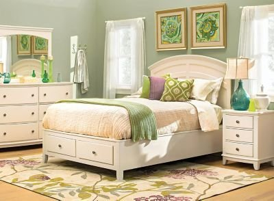 Best Kylie 4 Pc Queen Platform Storage Bedroom Set Cream With Pictures