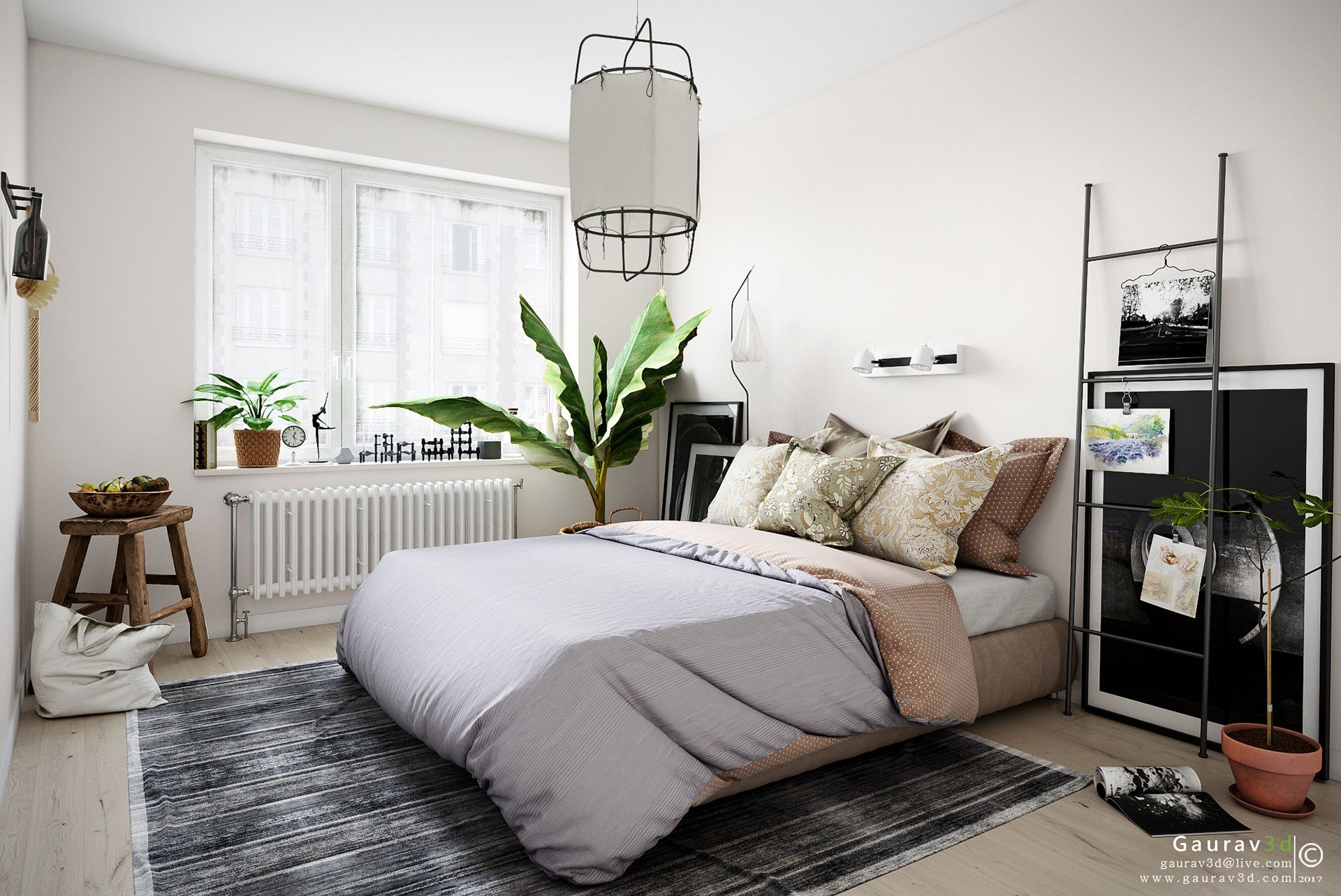 Best A Scandinavian Style Bedroom Gallery Area By Autodesk With Pictures