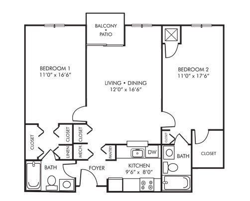 Best 2 Bedroom Apartments Under 800 In Fort Worth Tx 800 Sq Ft With Pictures