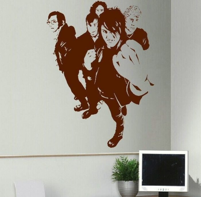 Best Large My Chemical Romance Emo Bedroom Wall Mural Art With Pictures