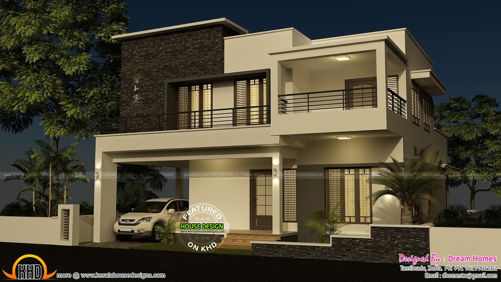 Best 4 Bedroom Modern House With Plan Kerala Home Design And With Pictures