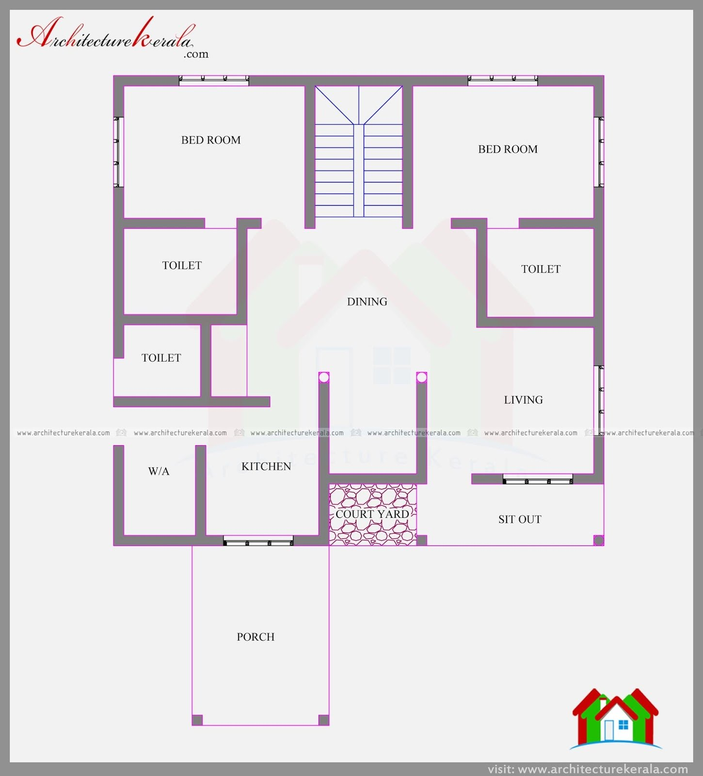 Best 4 Bedroom Lovely Two Storied Kerala Home Plan In 2282 Sq With Pictures