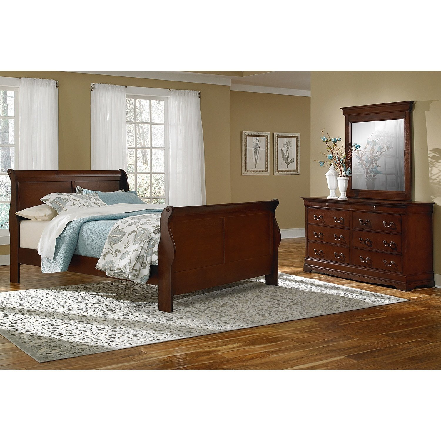 Best Neo Classic 5 Piece King Bedroom Set Cherry American With Pictures