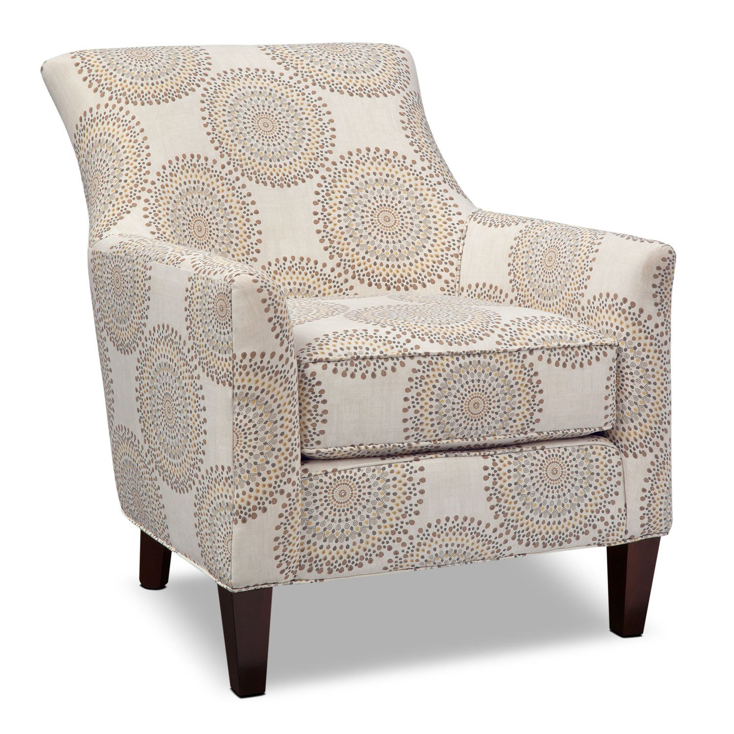 Best Rachel Carousel Accent Chair Sand Value City Furniture With Pictures