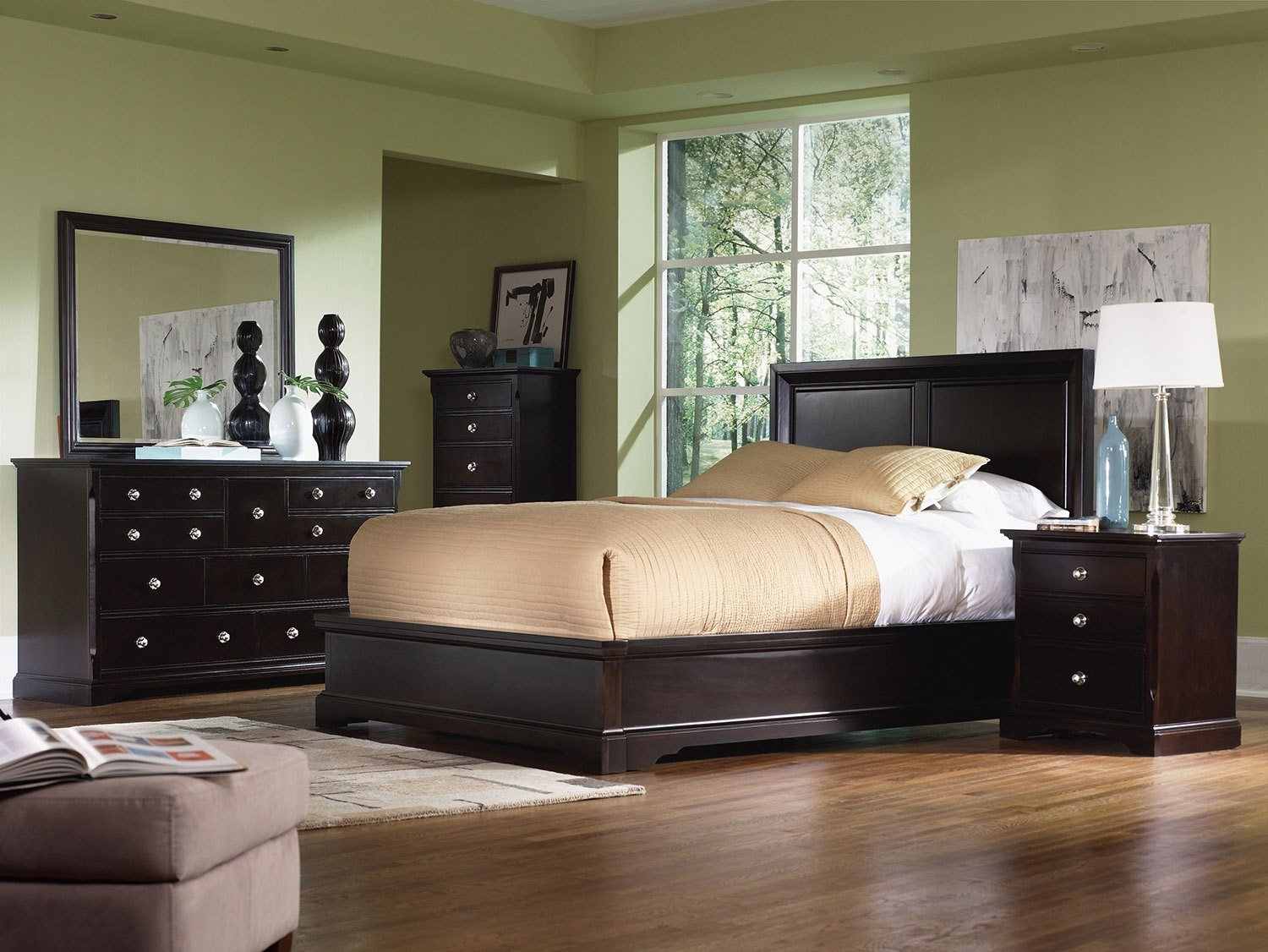 Best Georgetown 4Pc King Panel Bedroom Merlot With Pictures