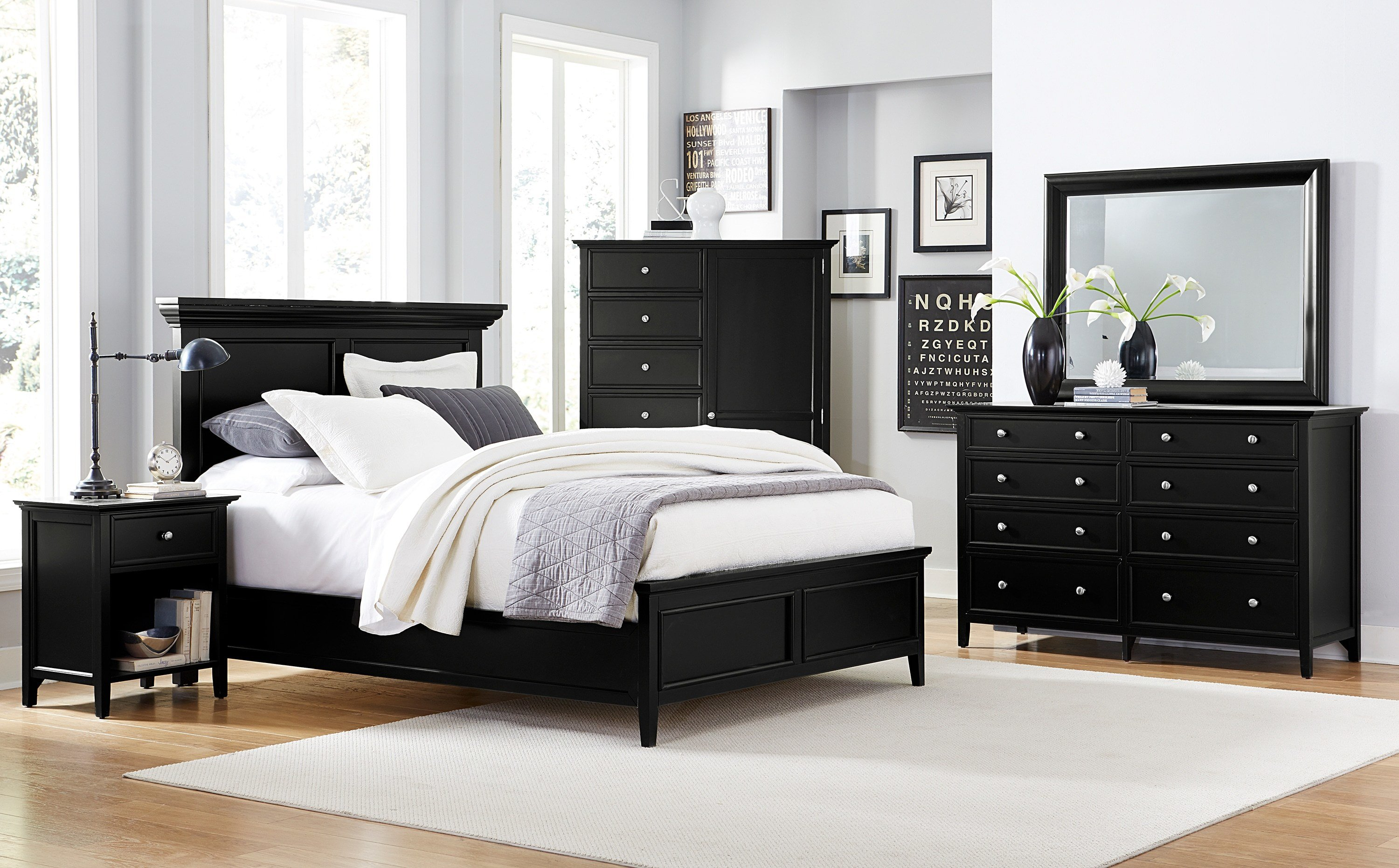 Best Ellsworth 4 Piece King Bedroom Set Black With Pictures