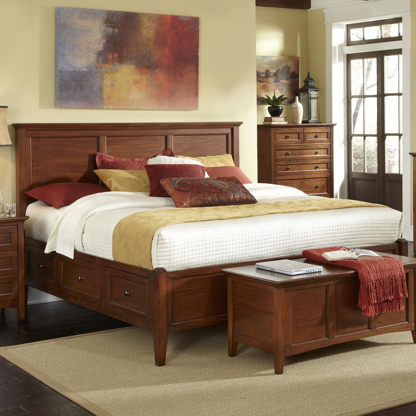 Best Transitional Queen Bed With 6 Storage Drawers By Aamerica Wolf Furniture With Pictures