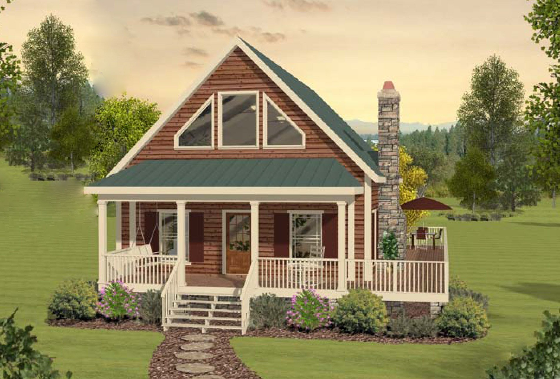 Best Two Bedroom Cottage Home Plan 20099Ga Architectural With Pictures