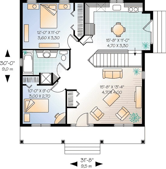 Best 2 Bedroom Cottage House Plan 21255Dr Architectural With Pictures