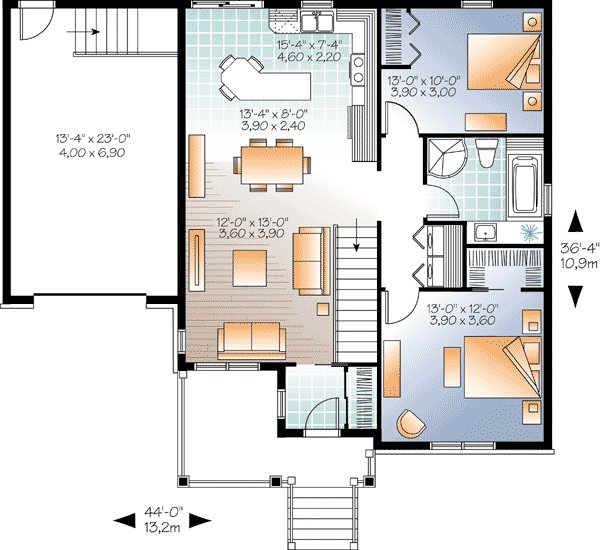 Best Weathertight 2 Bedroom Bungalow 22331Dr 1St Floor Master Suite Cad Available Canadian With Pictures