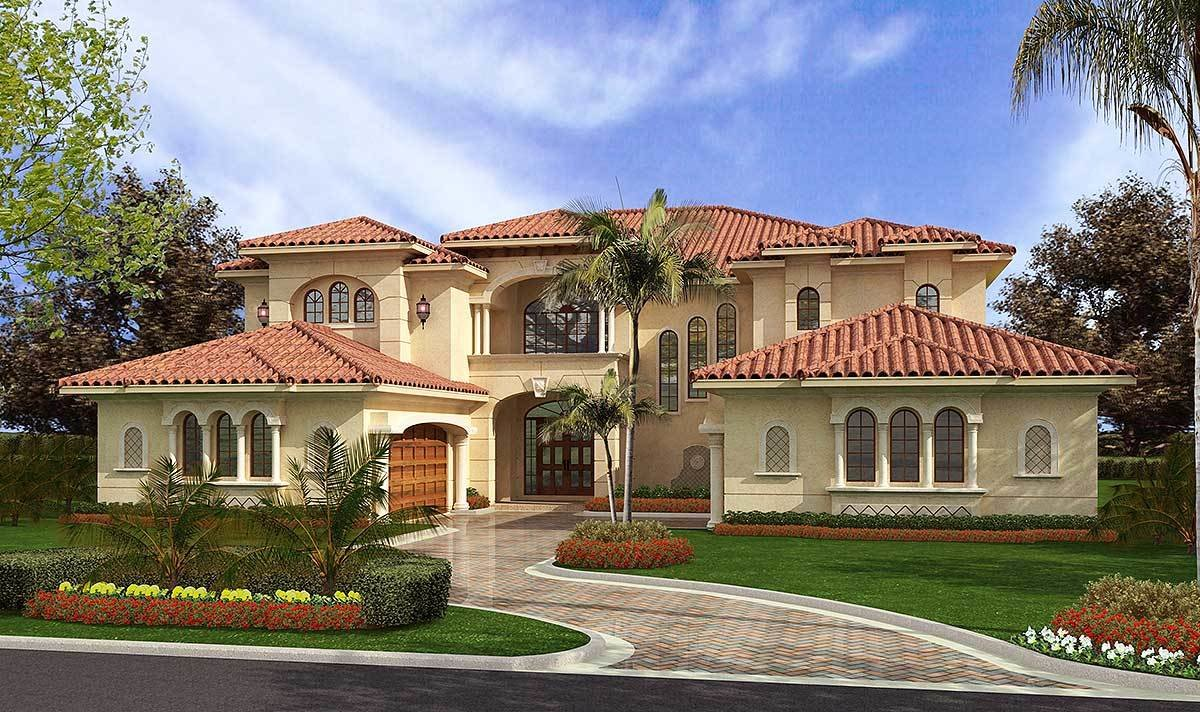 Best Luxury Mediterranean Style 32065Aa 2Nd Floor Master With Pictures