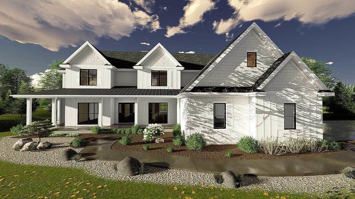 Best 5 Bedroom Modern Farmhouse Plan 62665Dj Architectural With Pictures