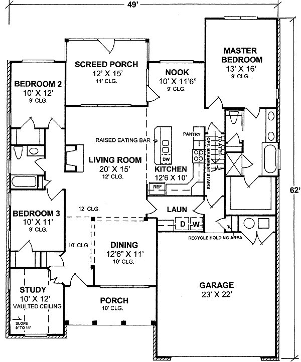 Best One Story Split Bedroom House Plan 40177Wm 1St Floor With Pictures