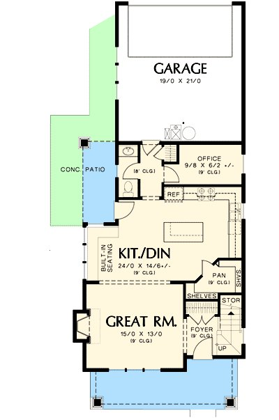 Best Narrow Home Plan With Rear Garage 69518Am 2Nd Floor With Pictures