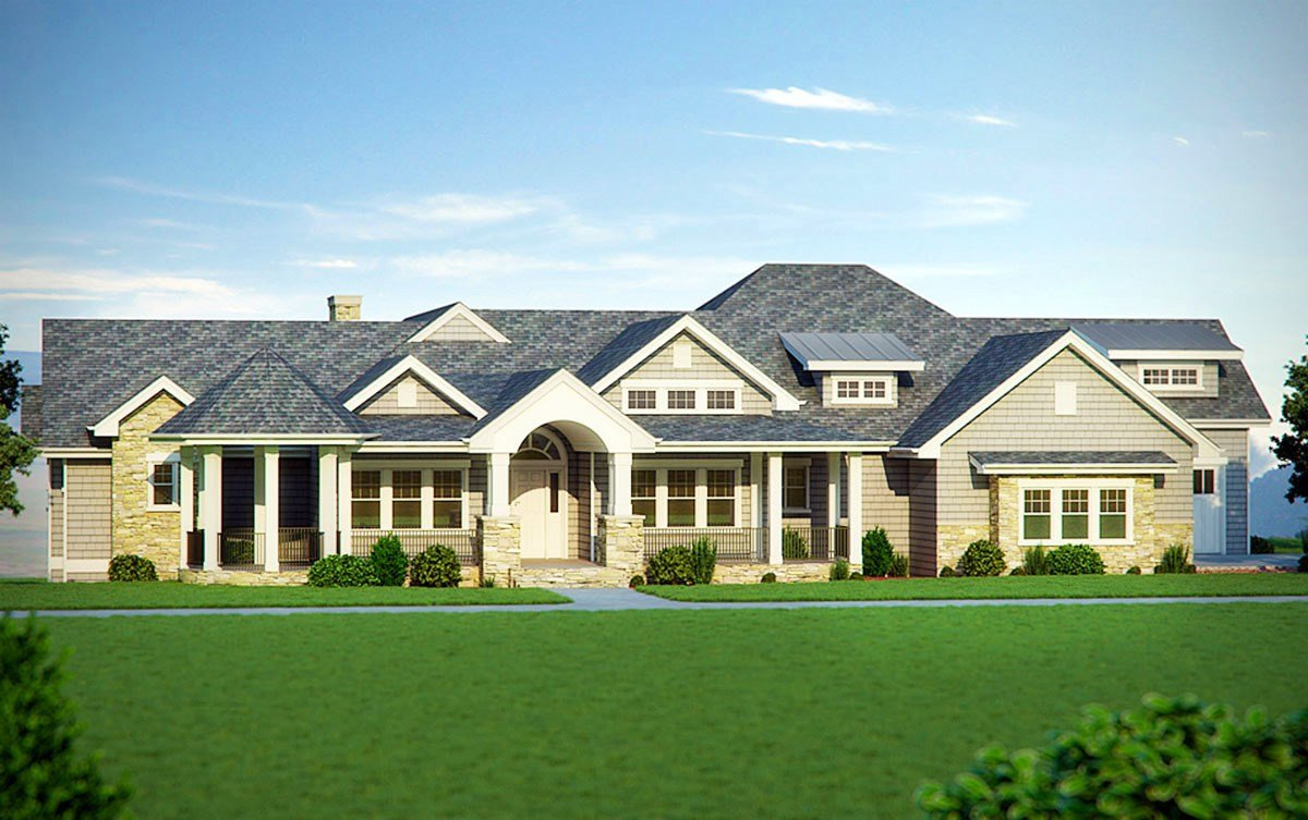 Best Five Bedroom Craftsman Home Plan 95007Rw Architectural With Pictures