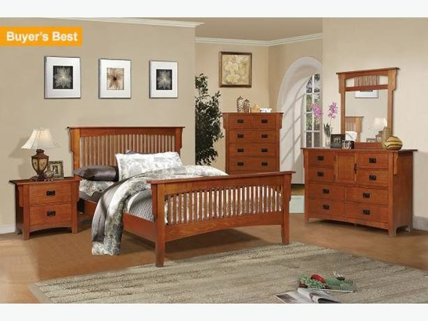 Best Mission Style Oak Full Bedroom Set In Excellent Shape West With Pictures