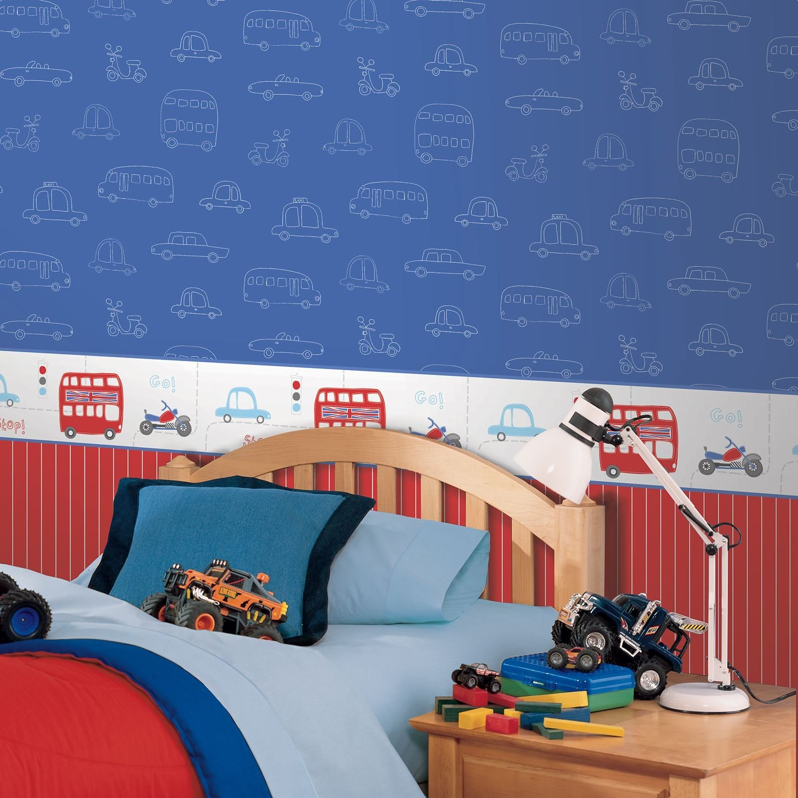 Best Transport And Vehicles Themed Wallpaper Borders Bedroom With Pictures