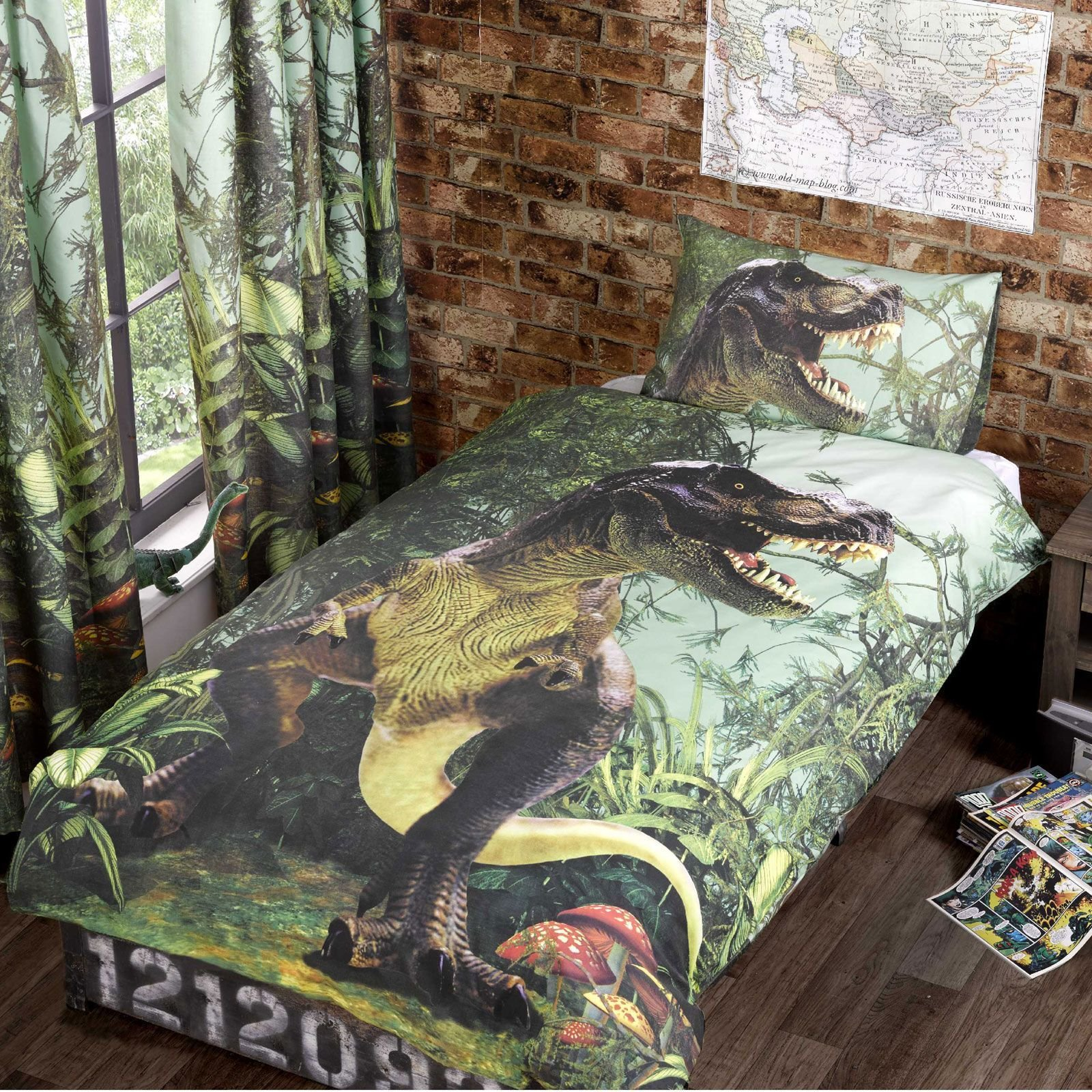 Best Dinosaur Design Single Double Duvet Cover Sets Boys With Pictures