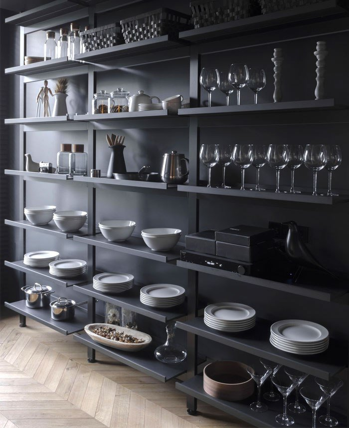 Best Small Masculine Apartment In Dark Color Schemes Interiorzine With Pictures