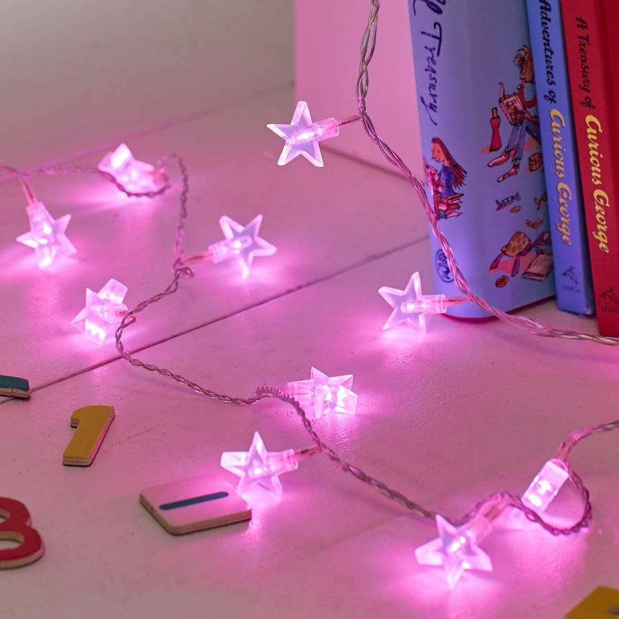Best Pink Star Fairy Lights By Lights4Fun Notonthehighstreet Com With Pictures