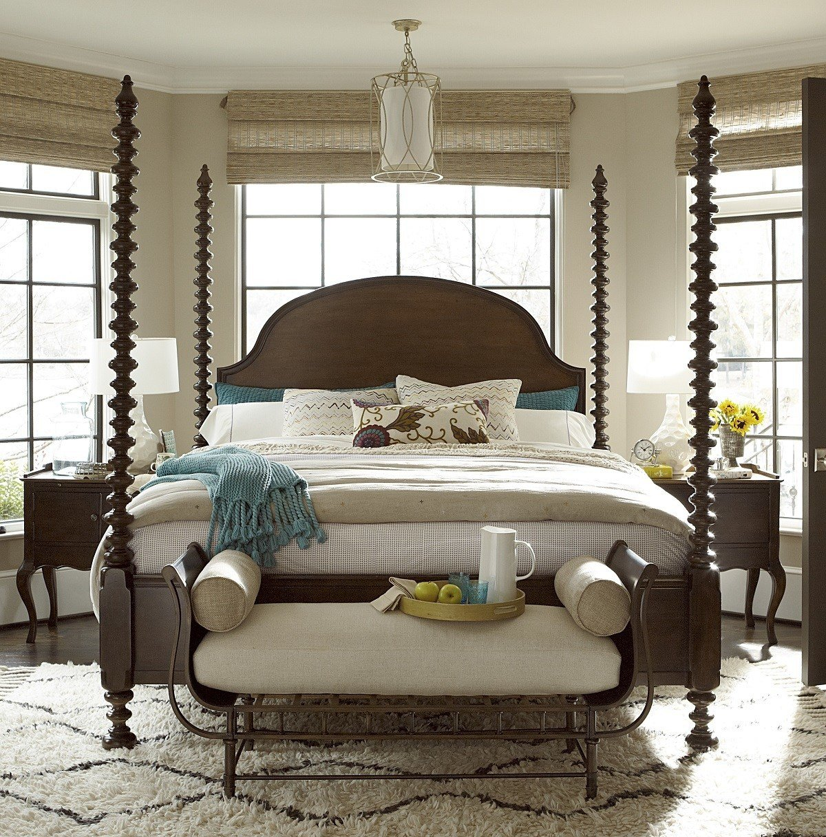 Best Sonoma Four Poster King Bedroom Set Zin Home With Pictures