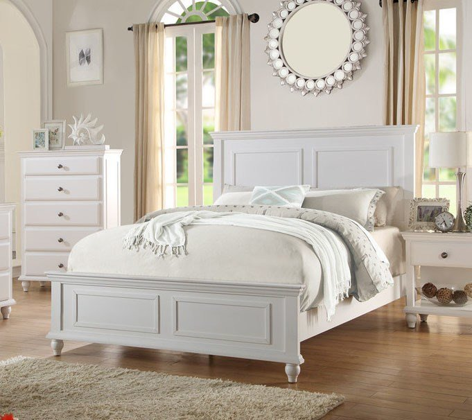 Best Poundex F9270 Coastal Living White Black Bedroom Set With Pictures