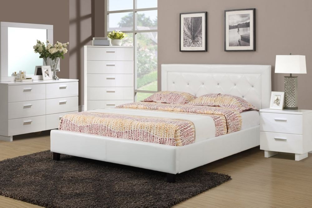 Best Poundex F9247 White Full Queen Bedroom Set With Pictures