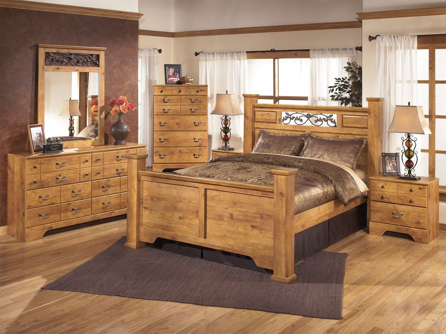 Best Bittersweet Queen Size Poster Bed B219 Set Ashley With Pictures