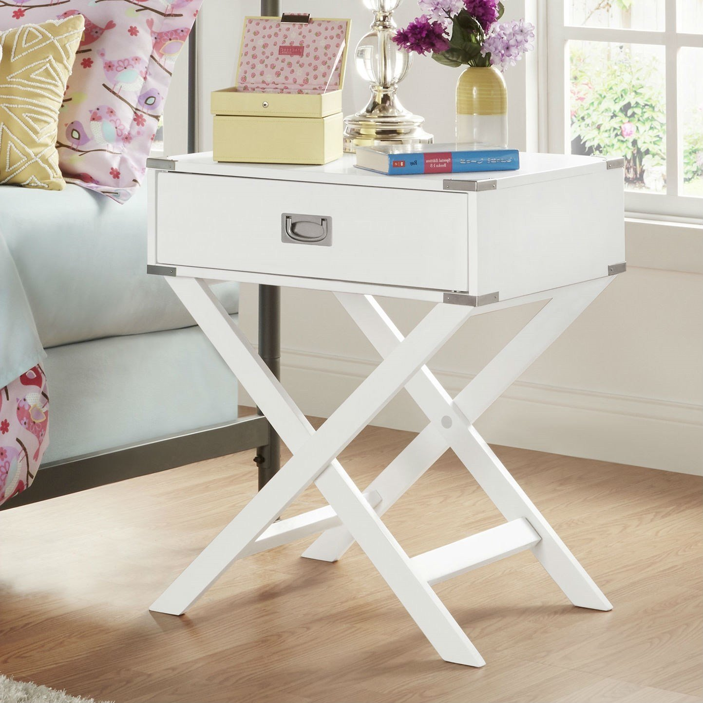 Best White Modern Bedroom Decor 1 Drawer Bedside Table With Pictures