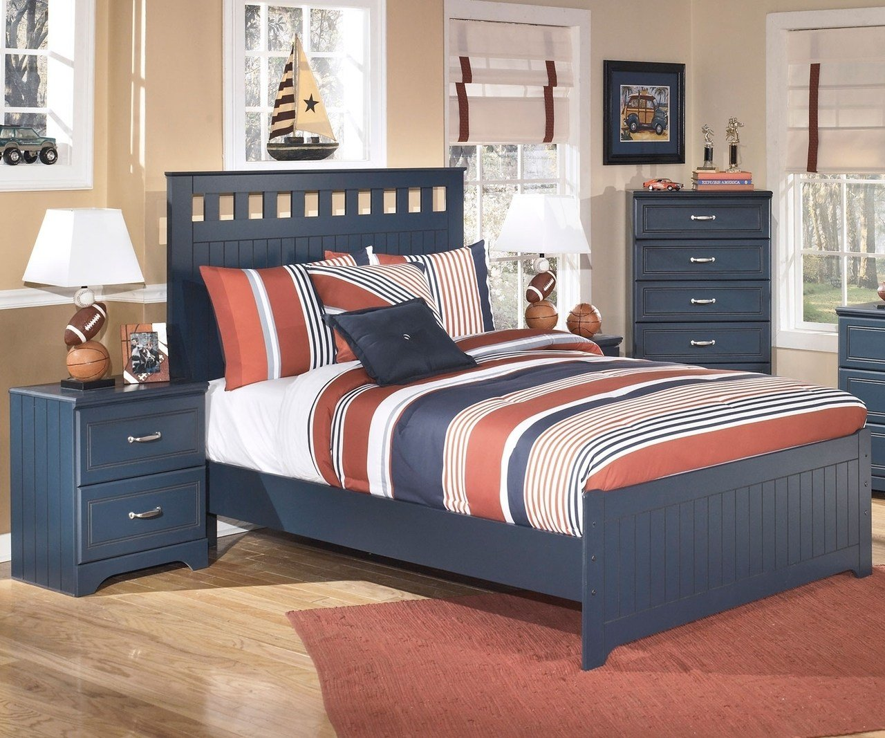Best Leo B103 Full Size Panel Bed Ashley Kids Furniture With Pictures