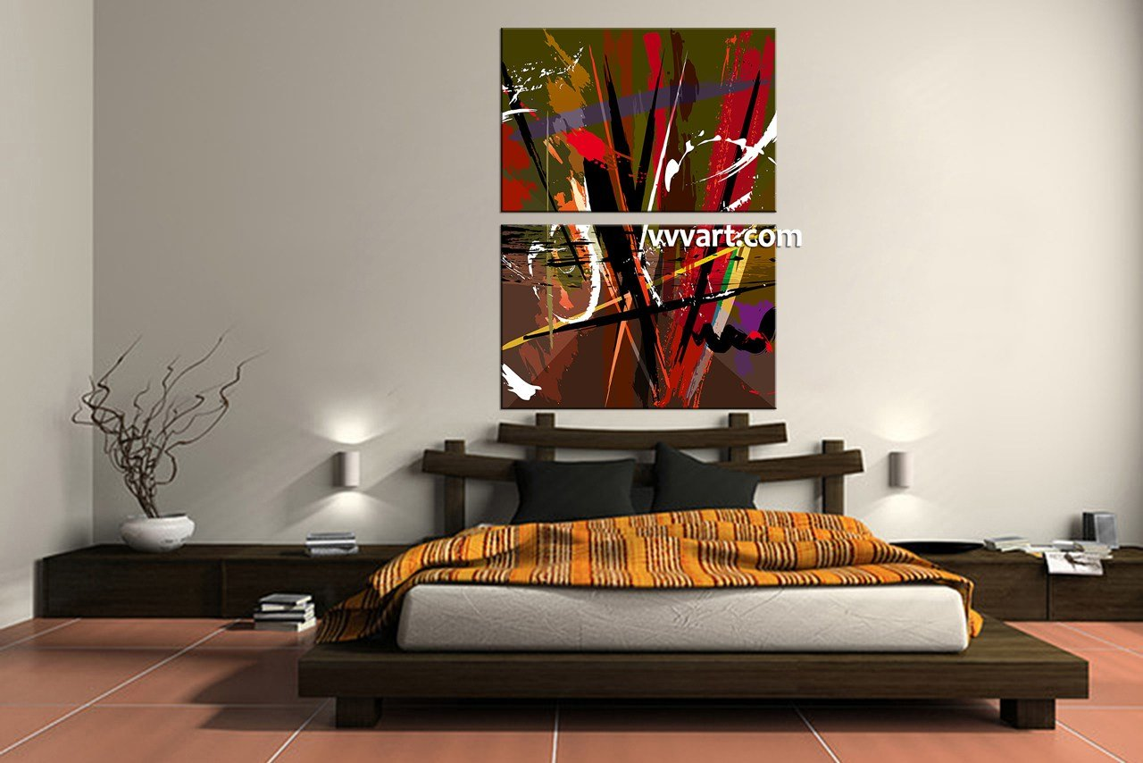 Best 2 Piece Colorful Abstract Home Decor Artwork With Pictures