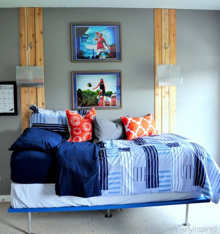 Best Boys Gray And Orange Bedroom Reveal Decorating Boys Room With Pictures