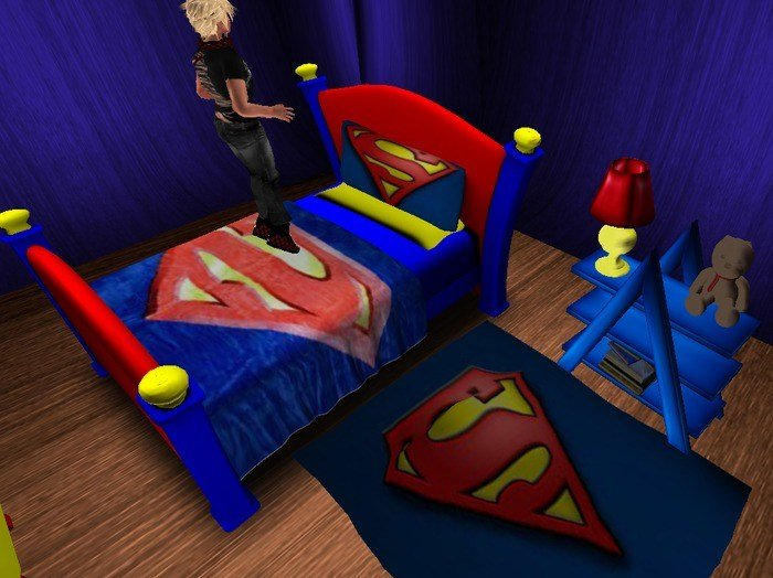 Best Second Life Marketplace Superman Bedroom Set Boxed With Pictures