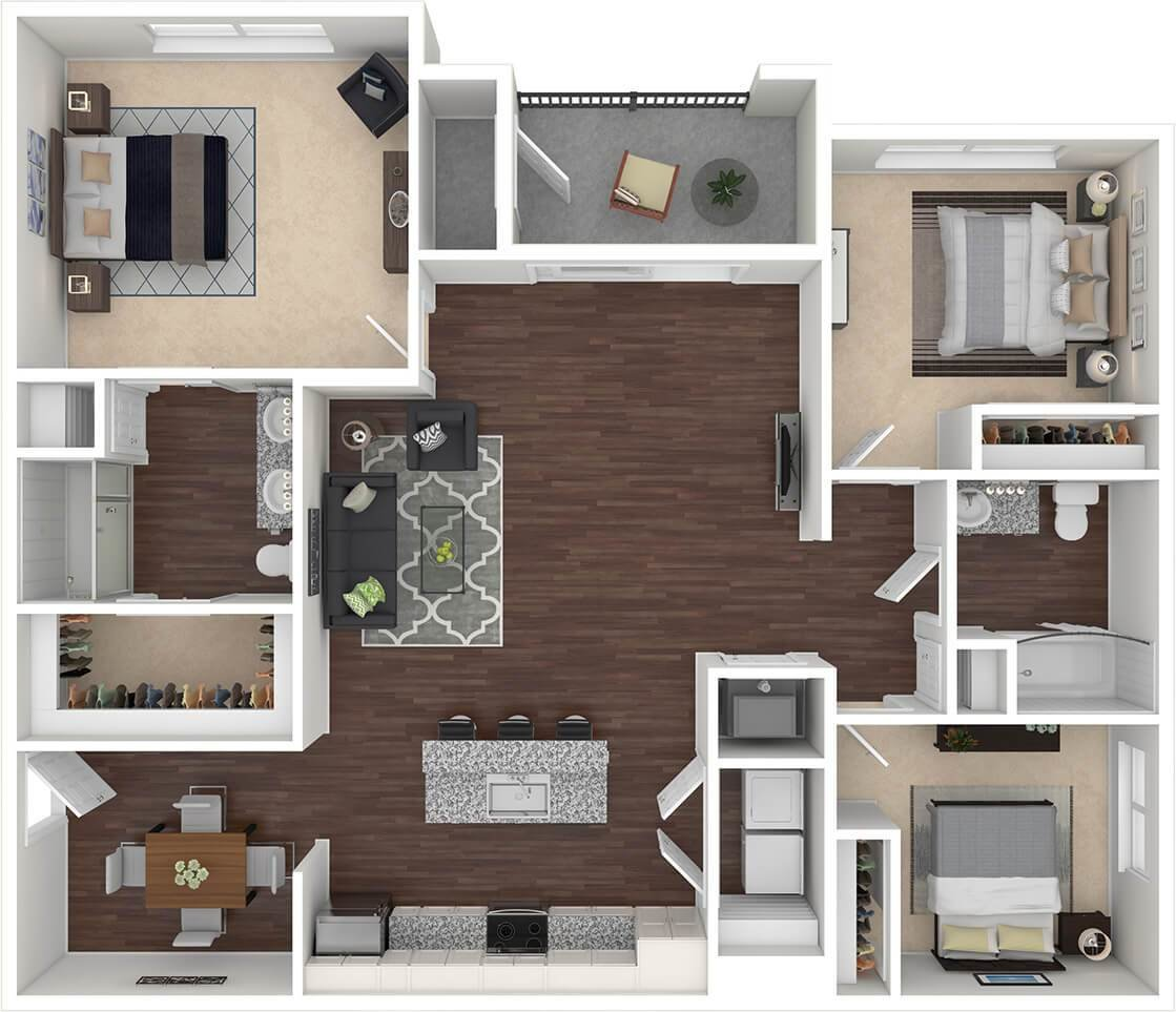 Best 1 2 3 Bed Layouts Floorplans Spectra Luxury Fort With Pictures