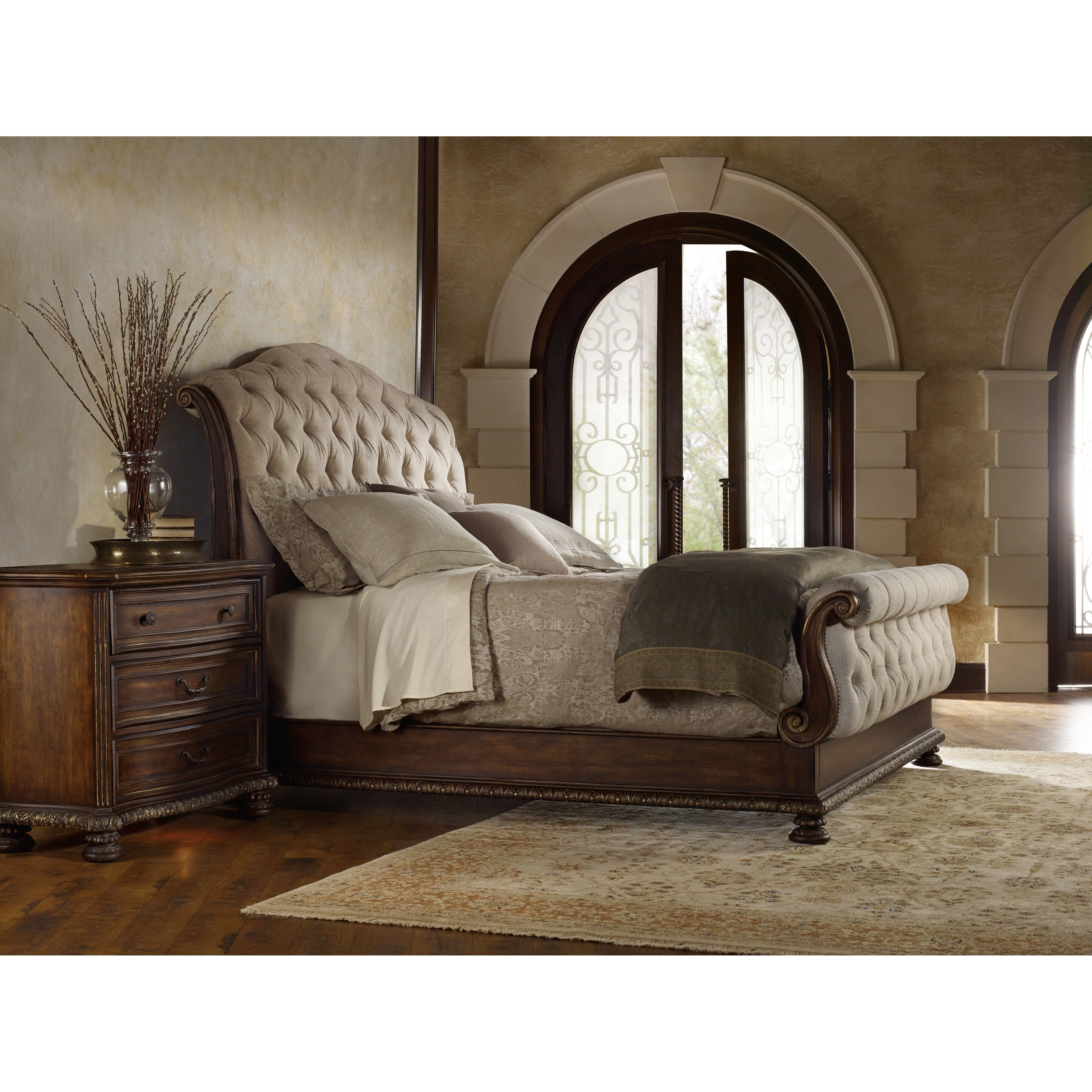 Best H**K*R Furniture Adagio Upholstered Sleigh Bed Reviews With Pictures