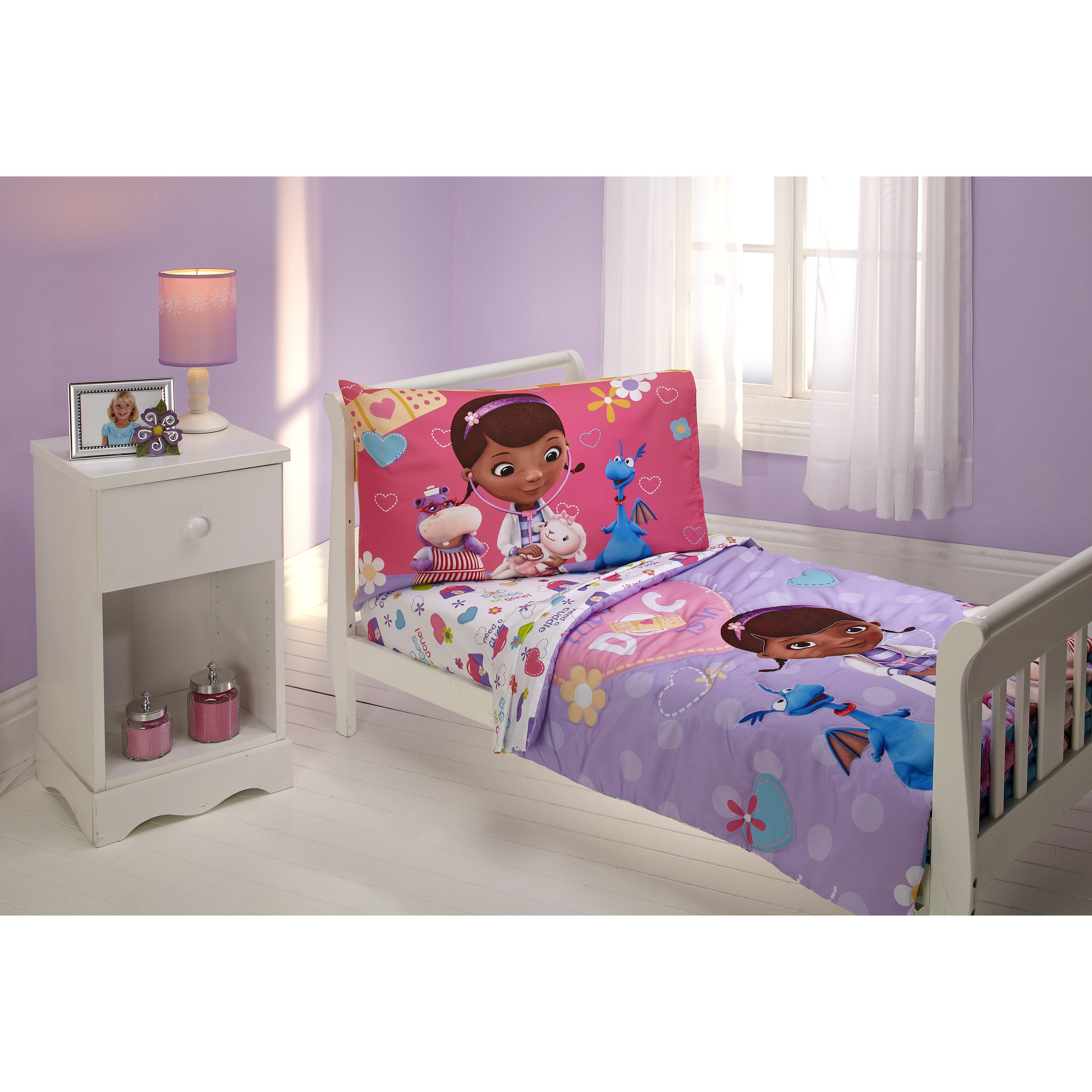 Best Disney The Doc Is In 4 Piece Doc Mcstuffins Toddler Bedding Set Reviews Wayfair With Pictures