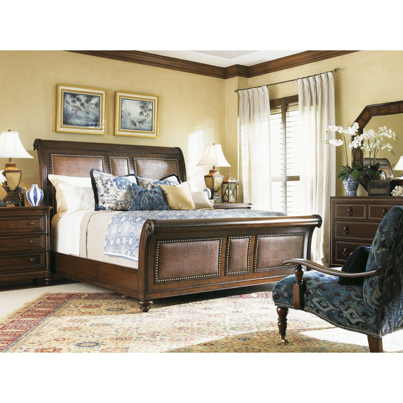 Best Tommy Bahama Home Landara Sleigh Customizable Bedroom Set With Pictures