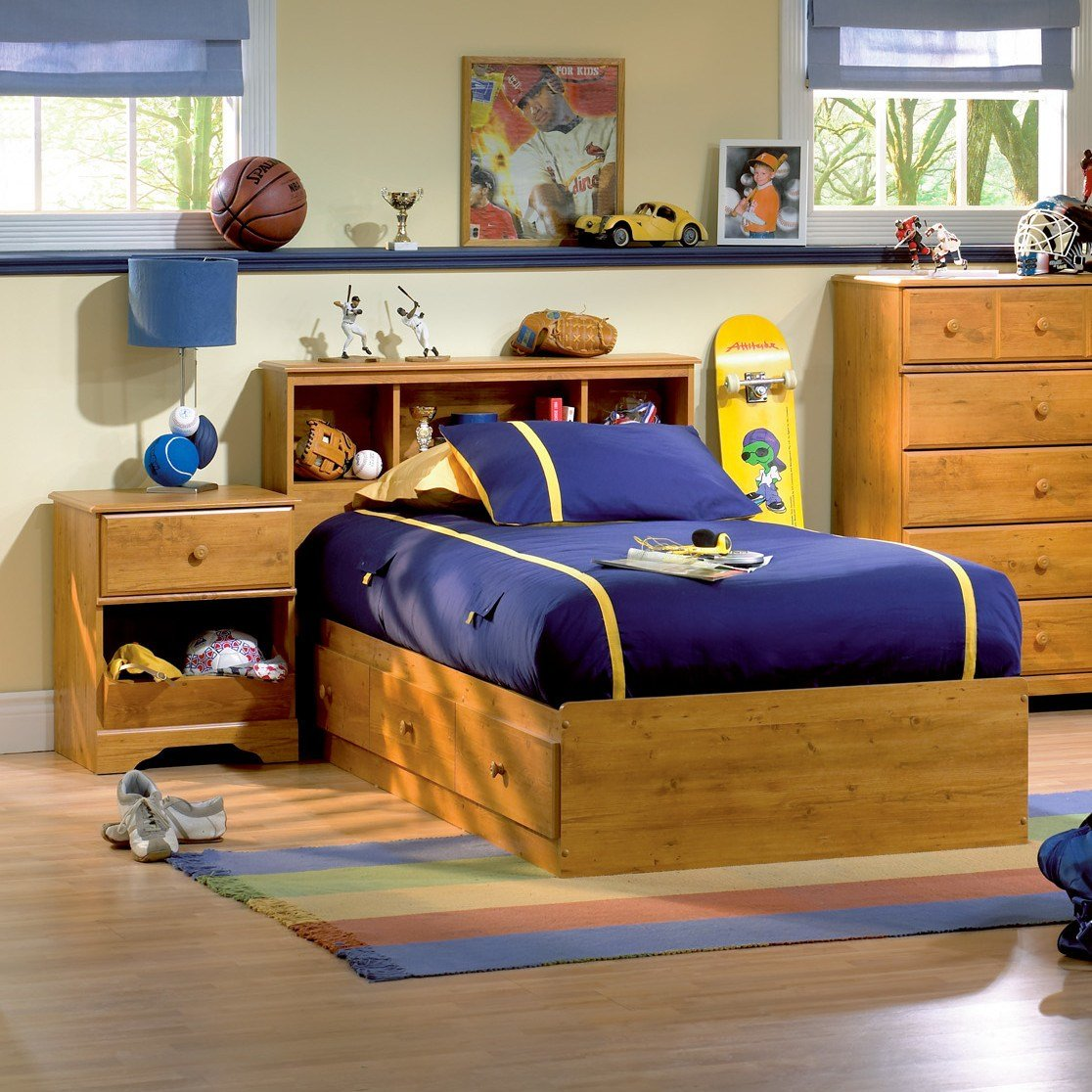 Best South Shore Amesbury Twin Platform Customizable Bedroom With Pictures